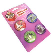 Weebl Stuff Characters Badge Packs